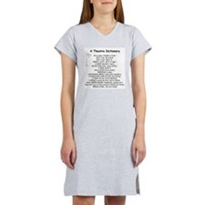 A Theatre Dictionary Women's Nightshirt