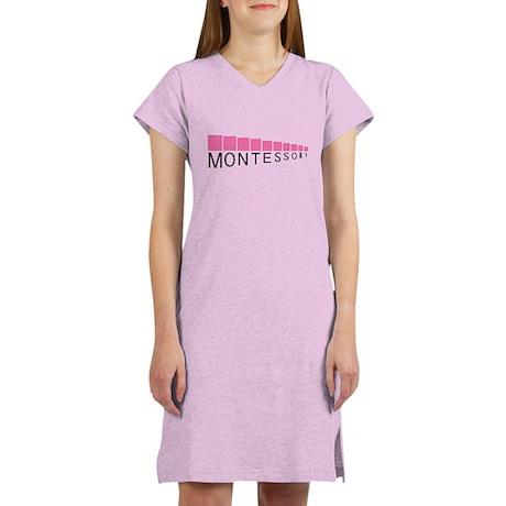 Montessori Pink Tower Women's Light Pink Nightshir