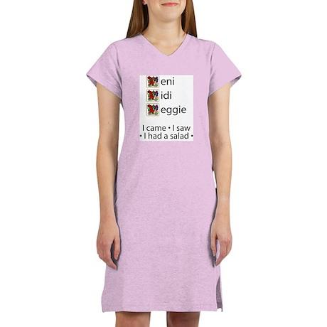 Veni Vedi Veggie Women's Nightshirt