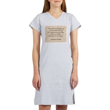 Women's Nightshirt: Security-Franklin