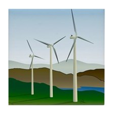 Wind Turbine Generator Tile Coaster