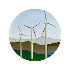 "Wind Turbine Generator 3.5"" Button"