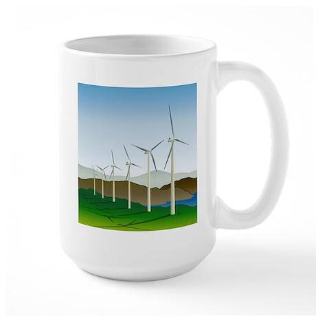 Wind Turbine Generator Large Mug
