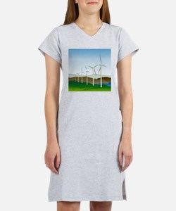 Wind Turbine Generator Women's Nightshirt