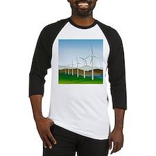 Wind Turbine Generator Baseball Jersey