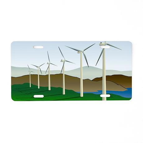Wind Turbine Generator Aluminum License Plate