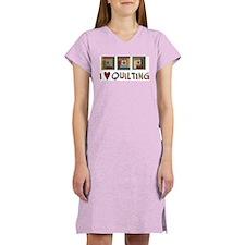 I Love Quilting Women's Nightshirt