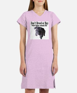 """""""Updated"""" Don't Breed or Buy Women's Nightshirt"""