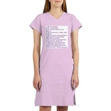 Answers (purple) Women's Pink Nightshirt