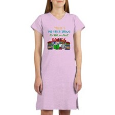 Too Many Books... Women's Pink Nightshirt