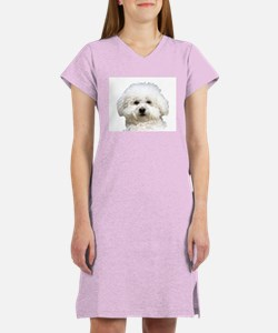 Fifi the Bichon Frise Women's Nightshirt