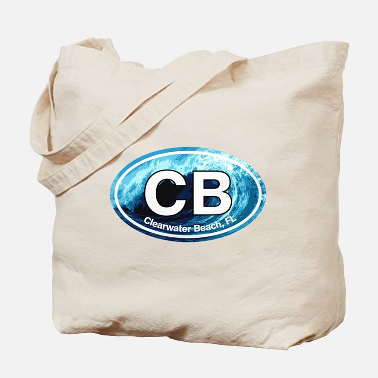 CB Clearwater Beach Wave Tote Bag