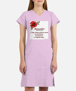 Remember Poppy Women's Nightshirt