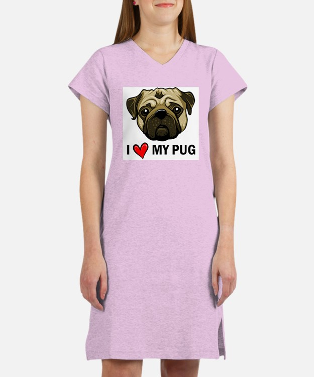 I Heart My Pug Women's Nightshirt