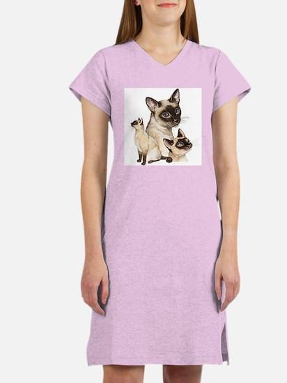 Siamese Cats Women's Nightshirt