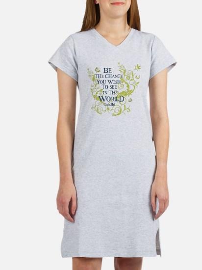Gandhi Vine - Be the change - Blue & Green Women's