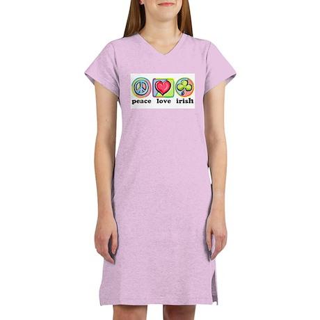 Peace Love Irish Women's Nightshirt