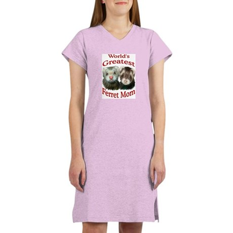 World's Greatest Ferret Mom Women's Nightshirt