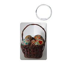 Pysanky Basket Keychains