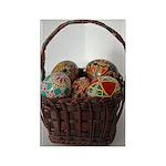 Pysanky Basket Rectangle Magnet (10 pack)