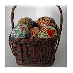 Pysanky Basket Tile Coaster