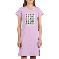 Lots of Penguins Women's Pink Nightshirt