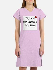 My Son, My Airman, My Hero Women's Pink Nightshirt