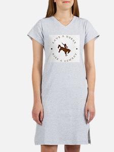 Save A Horse Ride A Cowboy Women's Nightshirt