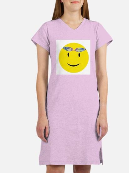 Swimmer Smiley Women's Pink Nightshirt