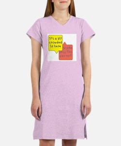 crowded womb - twins Women's Nightshirt