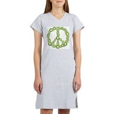 Green Recycle Peace Women's Nightshirt