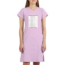 Colorguard scoring guide Women's Nightshirt