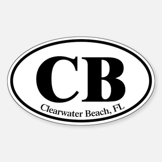 CB Clearwater Beach Sticker (Oval)