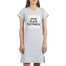 Stop Plate Tectonics Women's Pink Nightshirt