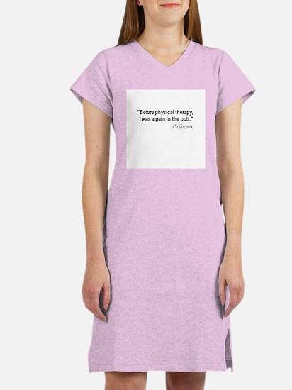 Piriformis Quote Women's Pink Nightshirt
