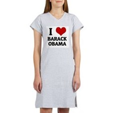 I Love Barack Obama Women's Pink Nightshirt
