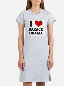 I Love Barack Obama Women's Pink Nightshirt