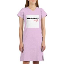 Airborne Wife Women's Pink Nightshirt
