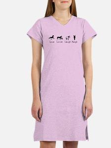 live love laugh neigh Women's Nightshirt