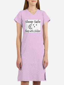Sleep Safe... with a soldier Women's Nightshirt