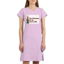 To Gnome is to Love Me Women's Pink Nightshirt