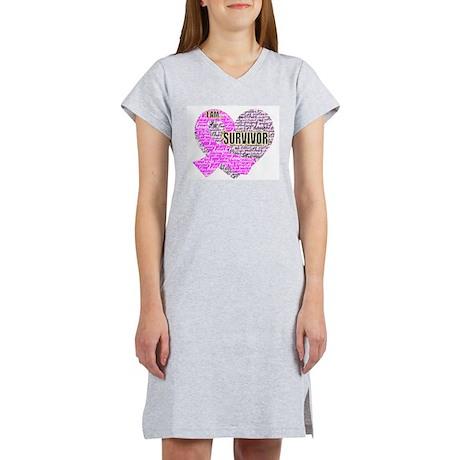 I am...Survivor Women's Pink Nightshirt