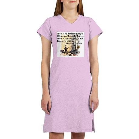 Peace Quote Women's Nightshirt