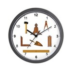 Masonic Working Tools Wall Clock
