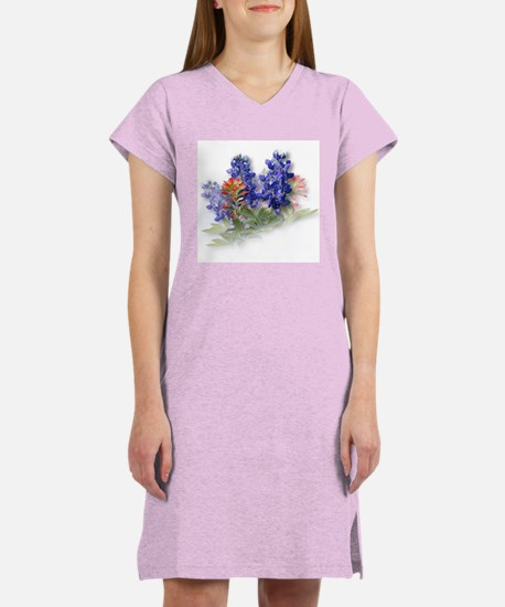 Bluebonnets with Indian Paint Women's Nightshirt