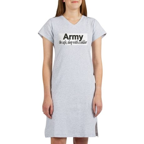 Be Safe (Army) Women's Pink Nightshirt