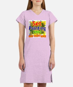 Set Painting Shirts Women's Nightshirt