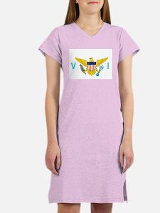Virgin Islands Flag Women's White Nightshirt