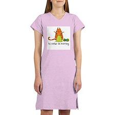 Rather be knitting Women's Nightshirt