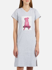 American Pit Bull Terrier Women's Pink Nightshirt